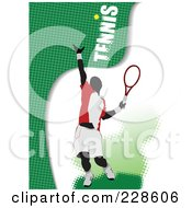 Royalty Free RF Clipart Illustration Of A Tennis Player Background 2