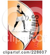Royalty Free RF Clipart Illustration Of A Tennis Player Background 20
