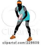 Royalty Free RF Clipart Illustration Of A Tennis Woman 6