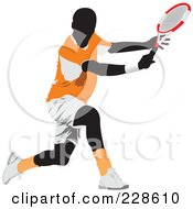 Royalty Free RF Clipart Illustration Of A Tennis Man 8