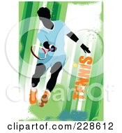 Royalty Free RF Clipart Illustration Of A Tennis Player Background 14