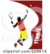 Royalty Free RF Clipart Illustration Of A Tennis Player Background 8
