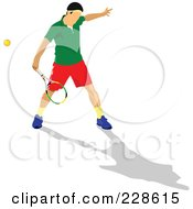 Royalty Free RF Clipart Illustration Of A Tennis Man 4