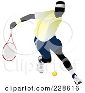 Royalty Free RF Clipart Illustration Of A Tennis Man 9