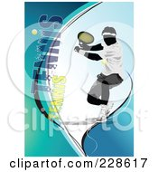 Royalty Free RF Clipart Illustration Of A Tennis Player Background 12