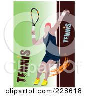 Royalty Free RF Clipart Illustration Of A Tennis Player Background 23