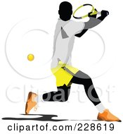 Royalty Free RF Clipart Illustration Of A Tennis Man 13