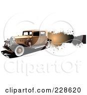 Royalty Free RF Clipart Illustration Of A Vintage Car Grunge Banner 1
