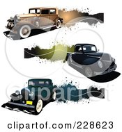 Royalty Free RF Clipart Illustration Of A Digital Collage Of Vintage Car Truck And Grunge Banners