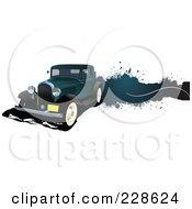 Royalty Free RF Clipart Illustration Of A Vintage Car Grunge Banner 5