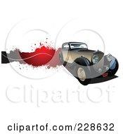 Royalty Free RF Clipart Illustration Of A Vintage Car Grunge Banner 3