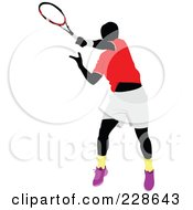 Royalty Free RF Clipart Illustration Of A Tennis Man 15