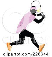 Royalty Free RF Clipart Illustration Of A Tennis Woman 10