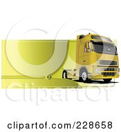 Royalty Free RF Clipart Illustration Of A Trucking Zipper Website Header 2