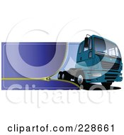 Royalty Free RF Clipart Illustration Of A Trucking Zipper Website Header 1