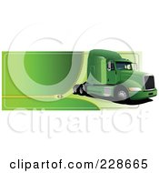 Royalty Free RF Clipart Illustration Of A Trucking Zipper Website Header 3