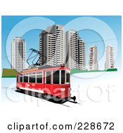 Royalty Free RF Clipart Illustration Of A Public Tram 1 by leonid