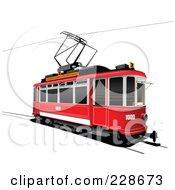 Royalty Free RF Clipart Illustration Of A Public Tram 2 by leonid