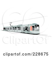 Royalty Free RF Clipart Illustration Of A Public Tram 4 by leonid
