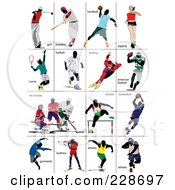 Royalty Free RF Clipart Illustration Of A Digital Collage Of Athletes 2 by leonid