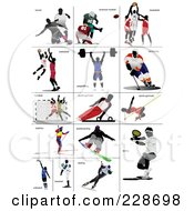 Digital Collage Of Athletes 1 by leonid