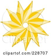 Royalty Free RF Clipart Illustration Of A Golden Christmas Star 8