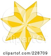 Royalty Free RF Clipart Illustration Of A Golden Christmas Star 5