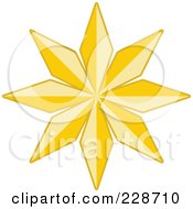 Royalty Free RF Clipart Illustration Of A Golden Christmas Star 6