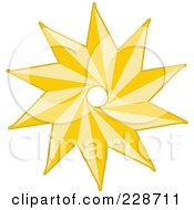 Royalty Free RF Clipart Illustration Of A Golden Christmas Star 3