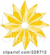 Royalty Free RF Clipart Illustration Of A Golden Christmas Star 4