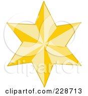 Golden Christmas Star - 7