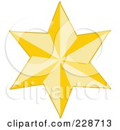 Royalty Free RF Clipart Illustration Of A Golden Christmas Star 7