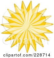 Royalty Free RF Clipart Illustration Of A Golden Christmas Star 9