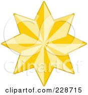 Royalty Free RF Clipart Illustration Of A Golden Christmas Star 2