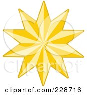 Royalty Free RF Clipart Illustration Of A Golden Christmas Star 1