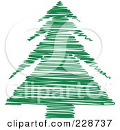Green Scribble Styled Christmas Tree 9