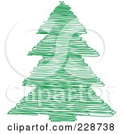 Green Scribble Styled Christmas Tree 6