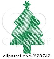 Green Scribble Styled Christmas Tree 7