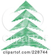 Green Scribble Styled Christmas Tree 4