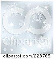 Royalty Free RF Clipart Illustration Of A Silver Snowflake Background