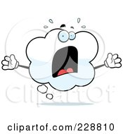 Royalty Free RF Clipart Illustration Of A Screaming Thought Cloud