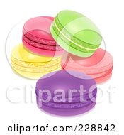 Royalty Free RF Clipart Illustration Of Colorful Macarons by Oligo #COLLC228842-0124