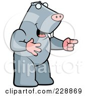 Royalty Free RF Clipart Illustration Of A Mole Laughing And Pointing by Cory Thoman