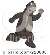 Royalty Free RF Clipart Illustration Of An Ape Running by Cory Thoman