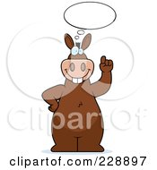 Royalty Free RF Clipart Illustration Of A Donkey Standing With An Idea by Cory Thoman