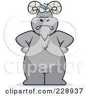 Royalty Free RF Clipart Illustration Of A Ram Standing With His Hands On His Hips