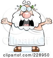 Royalty Free RF Clipart Illustration Of A Stressed Old Greek Man