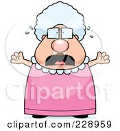 Royalty Free RF Clipart Illustration Of A Stressed Old Granny