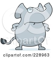 Royalty Free RF Clipart Illustration Of An Angry Elephant