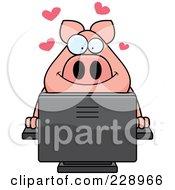 Pig Using A Desktop Computer